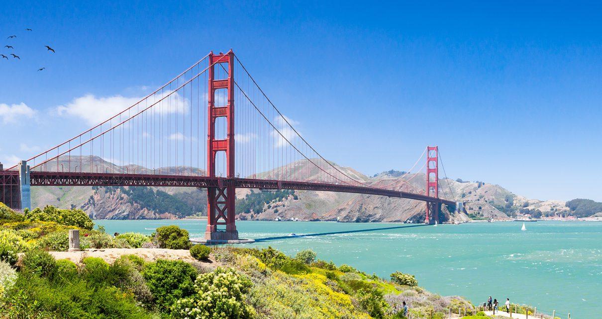 サンフランシスコカリフォルニア州のゴールデンゲートブリッジ